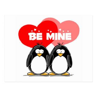 Carte Postale Soyez des pingouins de mine