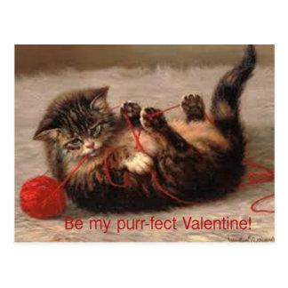 Carte Postale Soyez mon Ronronnement-fect Valentine !