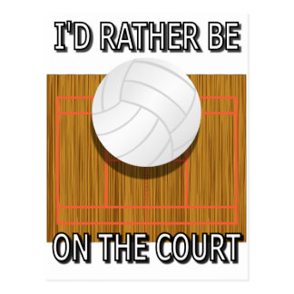 Carte Postale Soyez plutôt sur la cour de volleyball