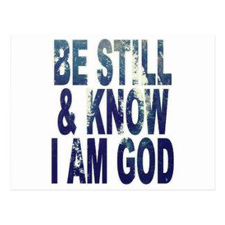 Carte Postale Soyez toujours et sachez que je suis Dieu