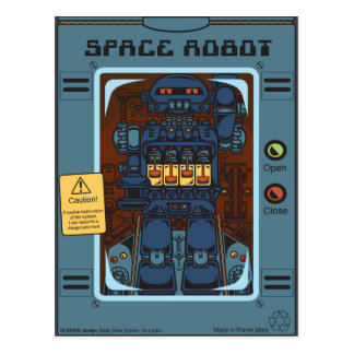 Carte Postale Space Robot Box