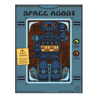 Carte Postale Space Robot Box Toy