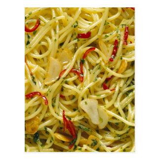 Carte Postale Spaghetti Aglio ; Olio et Peperoncino