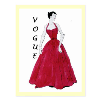 Carte postale spéciale de conception de mode