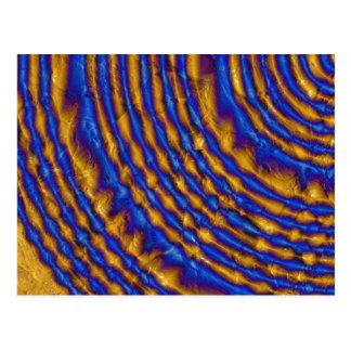 Carte Postale Spirale de peinture de bleu et d'or