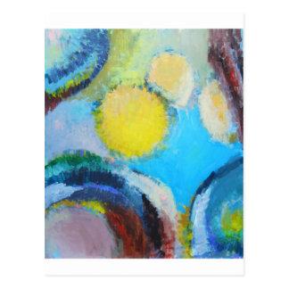 Carte Postale Spores abstraites (expressionisme microscopique)