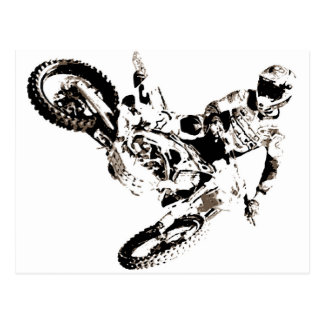 Carte Postale Sport de Motorcyle de motocross d'art de bruit