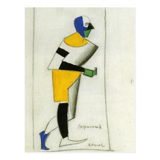 Carte Postale Sportif de Kazimir Malevich-