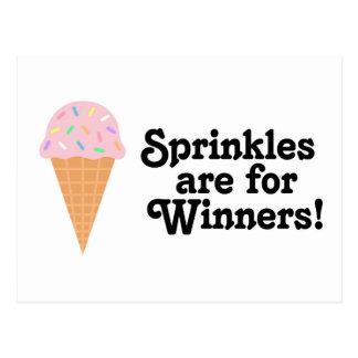 Carte Postale Sprinkles sont pour des gagnants, champion !
