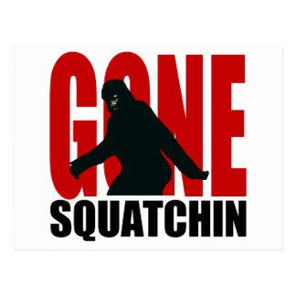 Carte Postale Squatchin allé - noir et rouge