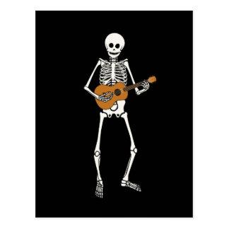 Carte Postale Squelette d'ukulélé