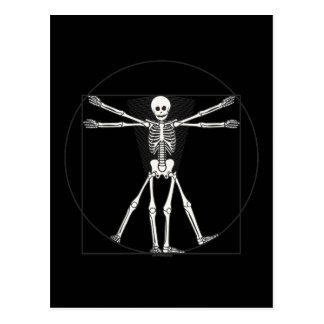 Carte Postale Squelette Lite de Vitruvian