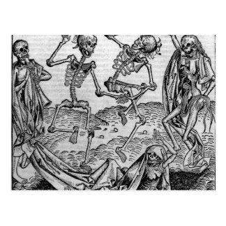 Carte Postale Squelettes de danse, 'danse de Death