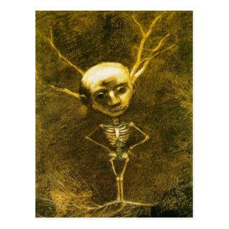 Carte postale squelettique d'homme par Odilon