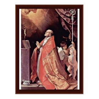 Carte Postale St Andrew Corsini dans la prière par Reni Guido
