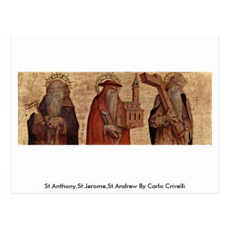 Carte Postale St Anthony, St Jerome, St Andrew par Carlo