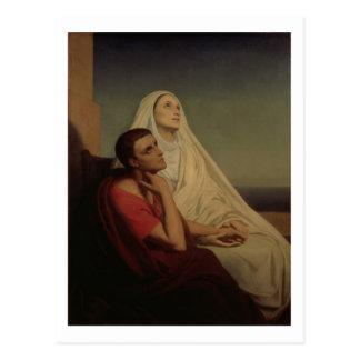Carte Postale St Augustine et son St Monica, 1855 de mère