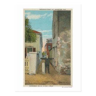 Carte Postale St Augustine, FL - vue de rue de trésor et