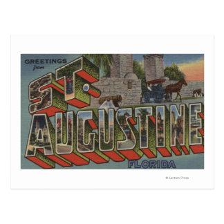 Carte Postale St Augustine, la Floride - grandes scènes de