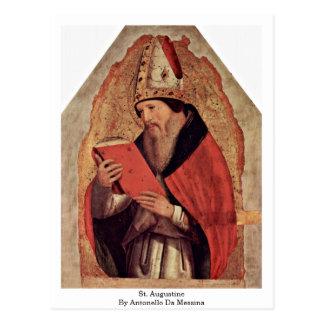 Carte Postale St Augustine par Antonello DA Messine