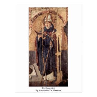 Carte Postale St Benoît par Antonello DA Messine