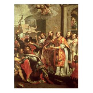 Carte Postale St Bernard de Clairvaux et de duc de William X