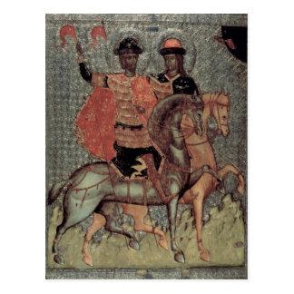 Carte Postale St Boris et St Gleb ont monté, c.1377