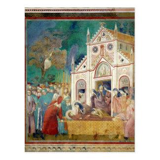 Carte Postale St Clare embrasse le corps de St Francis