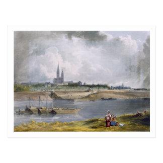 """Carte Postale St Denis, des """"vues sur la Seine"""", gravée par"""