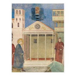 Carte Postale St Francis a honoré par un homme simple, 1297-99