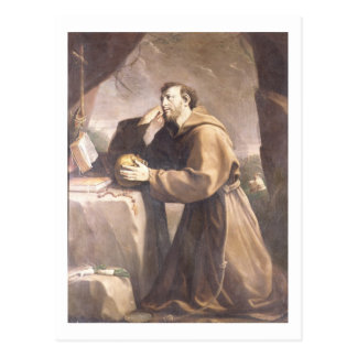 Carte Postale St Francis d'Assisi à la prière
