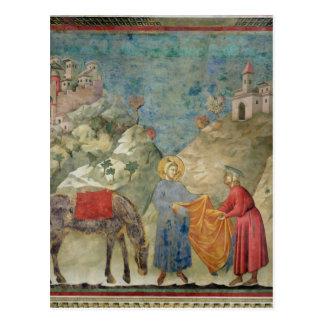 Carte Postale St Francis donne son manteau à un étranger