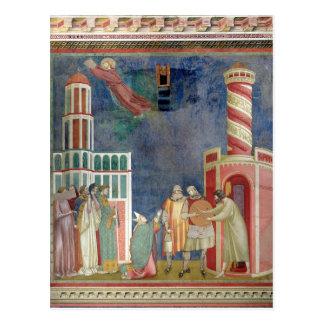 Carte Postale St Francis libère le hérétique, 1297-99