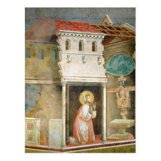 Carte Postale St Francis priant dans l'église de San