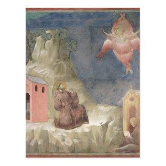 Carte Postale St Francis recevant les stigmates, 1297-99