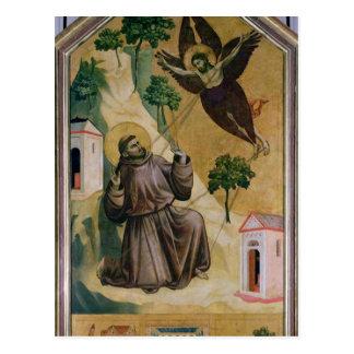 Carte Postale St Francis recevant les stigmates, c.1295-1300