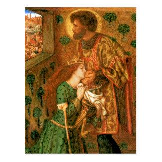 Carte Postale St George et la princesse Sabra