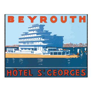 Carte Postale St Georges, cru d'hôtel de Beyrouth