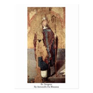 Carte Postale St Gregory par Antonello DA Messine
