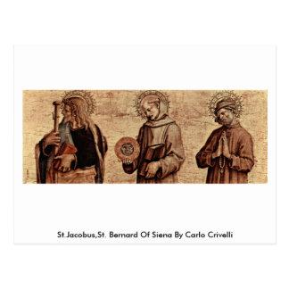 Carte Postale St.Jacobus, St Bernard de Sienne par Carlo