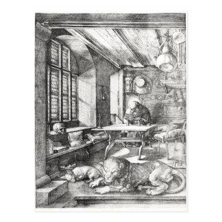 Carte Postale St Jerome dans son étude, 1514