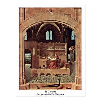 Carte Postale St Jerome dedans par Antonello DA Messine