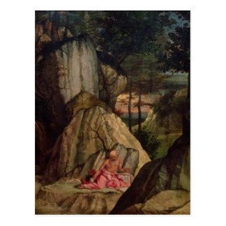 Carte Postale St Jerome méditant dans le désert, 1506