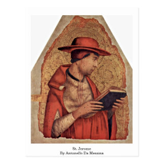 Carte Postale St Jerome par Antonello DA Messine