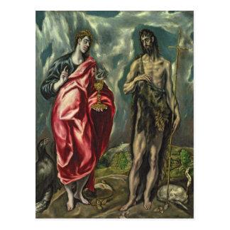 Carte Postale St John l'évangéliste et St John le baptiste