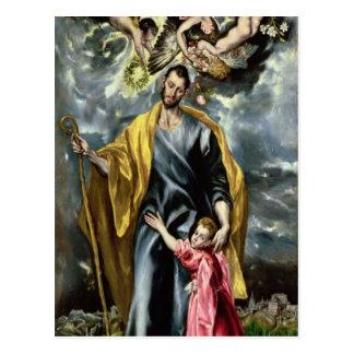Carte Postale St Joseph et l'enfant du Christ, 1597-99