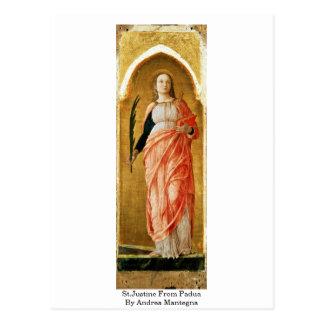 Carte Postale St.Justine de Padoue par Andrea Mantegna