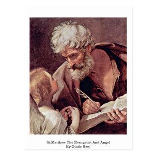 Carte Postale St Matthew l'évangéliste et l'ange par Guido Reni