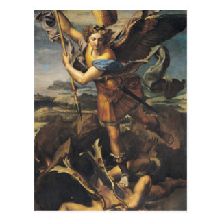 Carte Postale St Michael accablant le démon, 1518