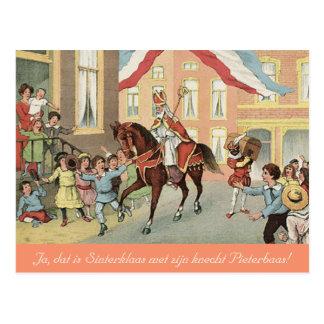 Carte Postale St néerlandais Nick Sinterklaas et cru de Zwarte